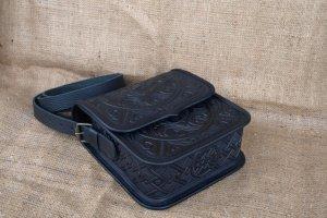 сумка шкіряна Трипілля чорна - Опис