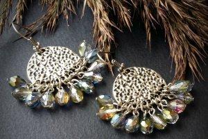 Сріблясті сережки з кришталевими підвісками - ІНШІ РОБОТИ