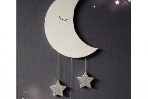 Робота Настенный декор месяц и звезды в детскую комнату
