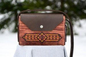 """Жіноча дерев'яна сумочка """"Kate"""" - Опис"""