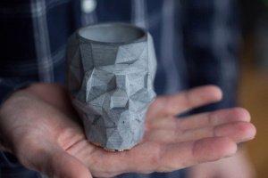 Череп з бетону,кашпо,підсвічник,попільничка - Опис