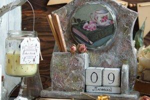 Робота большой вечный календарь в романтическом стиле