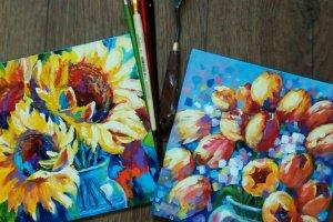 """Робота Картина цветы """"Подарочный набор"""","""