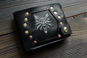 Робота Портмоне з вовком ′Witcher′ (чорне)
