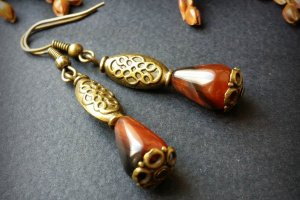Маленькі сережки за агату - ІНШІ РОБОТИ