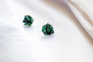 Сережки з малахітом - ІНШІ РОБОТИ