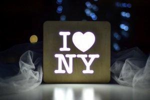 Ночник из дерева - I love NY - ІНШІ РОБОТИ