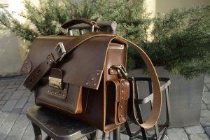 Мужской кожаный портфель - Опис