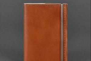 Робота Обложка для паспорта 1.0 Коньяк (кожа) + блокнотик