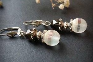 Сірі сережки з раухкварцем - ІНШІ РОБОТИ