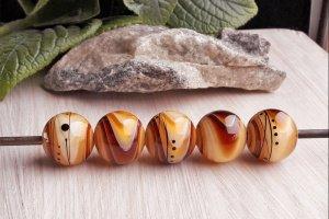 Робота Бусины «Градиент» коричневые топаз