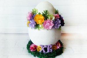 Робота Большое декоративное яйцо  Пасхальный сувенир