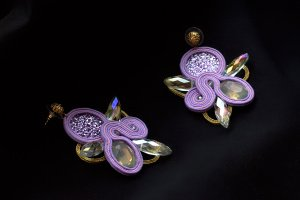 Робота Серьги Thorn (purple)