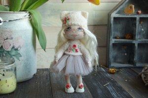 Робота текстильная кукла Василиса