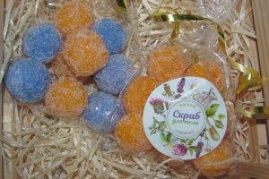 Робота Сахарный скраб для тела с ароматом фруктов и цитруса