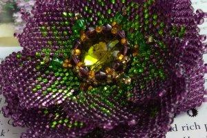 Брошь Обьемный цветок  - ІНШІ РОБОТИ