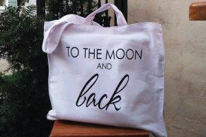 "Дизайнерская сумка-шопер ""to the moon and back"""