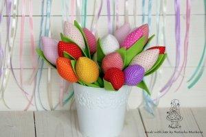 Тюльпани текстильні