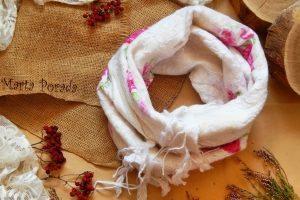 Шалик хомут снуд валяний із вовни квітковий - Опис