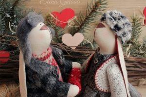 """пара зайчиков"""" С любовью в сердце"""" - Опис"""