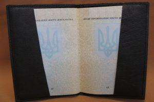 Кожаная  обложка на паспорт  Патриот - Описание