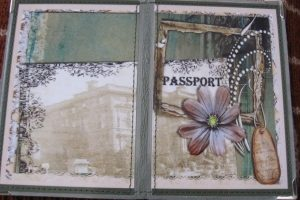 Кожаная  обложка на паспорт  Старый город - Описание