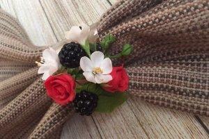 Цветы - кольцо на салфетку - ІНШІ РОБОТИ