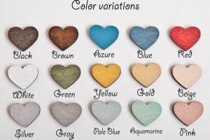 Сережки сердечки - Опис