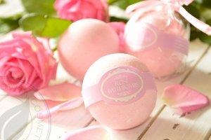 Бомбочка для ванни рожева