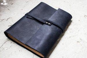Softbook - кожаный блокнот со сменными блоками (синий)