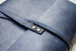 Softbook - кожаный блокнот со сменными блоками (синий) - Опис