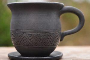 Чашка на каву з глини