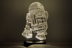 "Работа 3D ночник ""R2D2"""