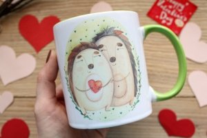 "Чашка с принтом  ""Я твоє щастя"" - Опис"