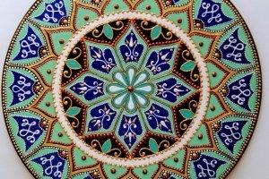 тарілка декоративна М'ятна бірюза