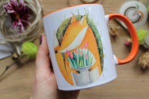 """Чашка с  Лисичкой """"А в душе всегда весна"""""""