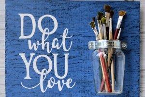 Дошка рустик «Do What You Love» - Опис