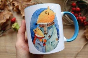 """Чашка с авторской иллюстрацией """"Батьки"""" - Опис"""