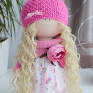 Робота Кукла текстильная, интерьерная, в шапке