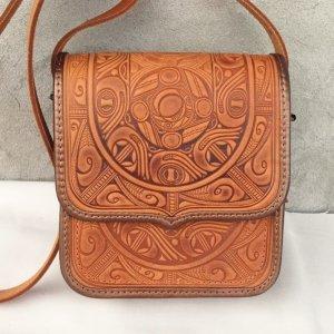 сумка шкіряна ручної роботи Трипілля-рижа
