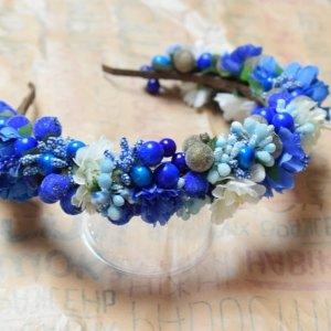 Робота Віночок синій волошковий біло синій віночок квіти