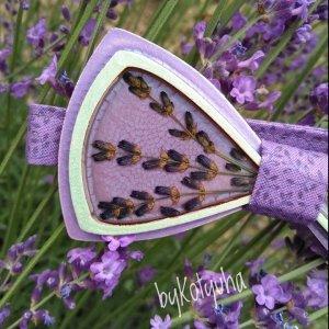 Робота WOODEN BOW TIE/ Метелик з квітами лаванди