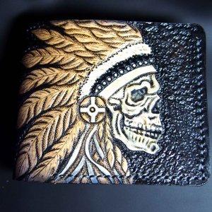 Кожаный кошелек Вожак племени