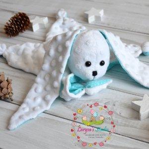 Робота Бирюзовый зайка - комфортер для малышей