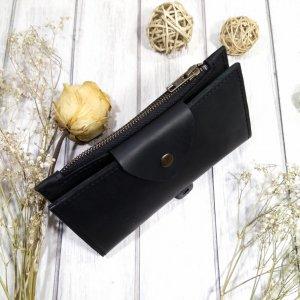 Робота Кожаный кошелек черного цвета