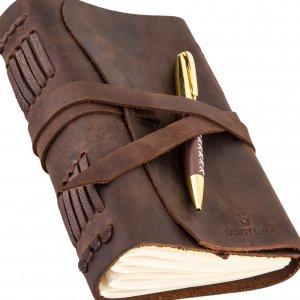 Оригинальный кожаный блокнот ручной работы подарок мужчине