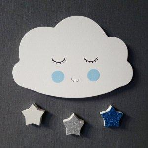 Робота Декор в детскую комнату облачко и звезды