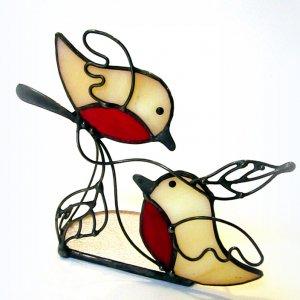 Свічник Вітраж Пара пташок 1