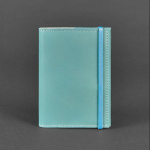 Робота Обложка для паспорта 1.0 Тиффани (кожа) + блокнотик