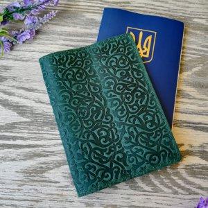 Робота Обложка на паспорт зеленые восточные узоры